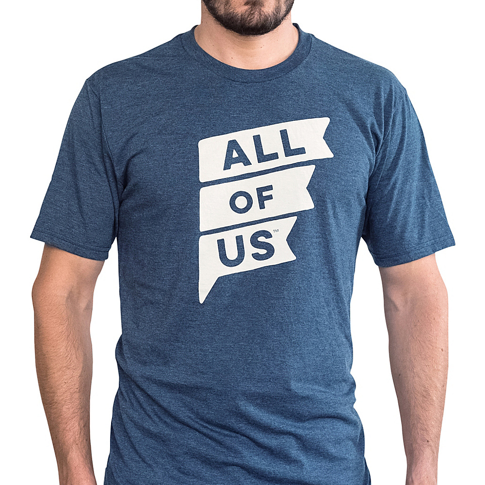 All of Us Mens Crew Flag Tee L – Navy Frost – All of Us Men's Apparel