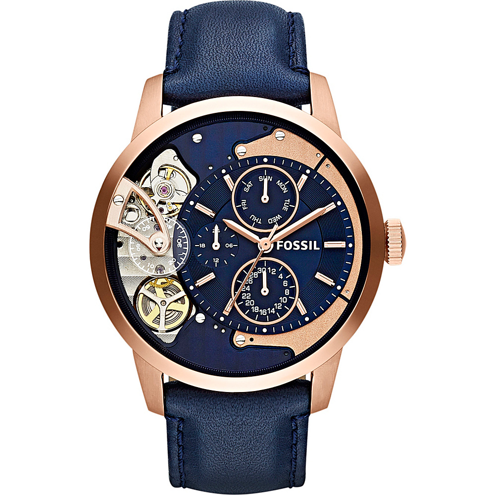Fossil Townsman Multifunction Leather Watch Blue - Fossil Watches - Fashion Accessories, Watches