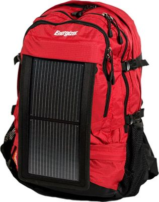 Energizer PowerKeep Wanderer Solar Panel Daypack Red - Energizer Portable Batteries & Chargers