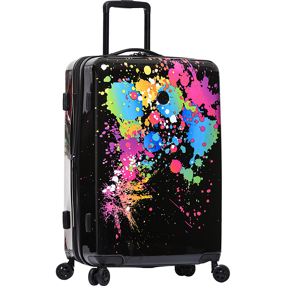 BODY GLOVE Long Lat Bursts 26″ Expandable Hardside Checked Spinner Luggage Blue Multi – BODY GLOVE Long Lat Hardside Checked