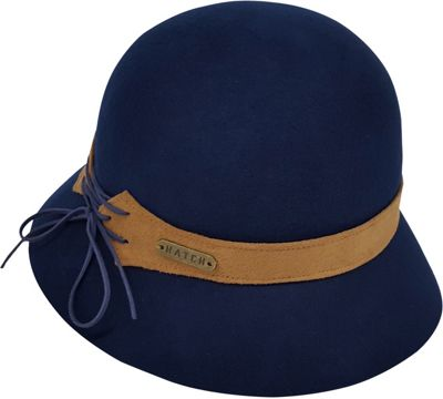 Hatch Hats Laces Cloche Hat One Size - Navy - Hatch Hats Hats/Gloves/Scarves