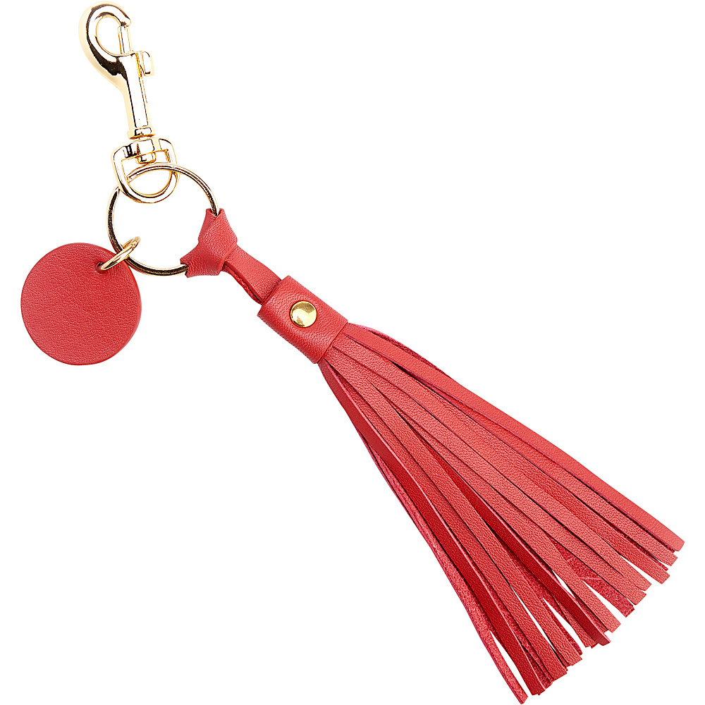 Royce Leather Leather Tassel Key Fob Red - Royce Leather Car Travel - Technology, Car Travel