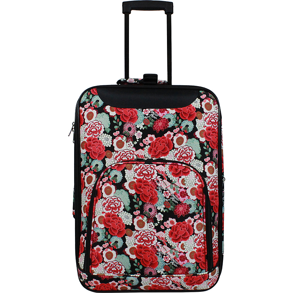 World Traveler Floral 20 Lightweight Carry-on Rolling Suitcase Floral - World Traveler Softside Carry-On - Luggage, Softside Carry-On