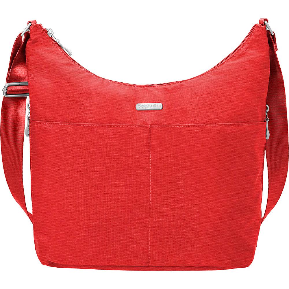 baggallini Hobo Crossbody with RFID Wristlet Hibiscus - baggallini Fabric Handbags - Handbags, Fabric Handbags