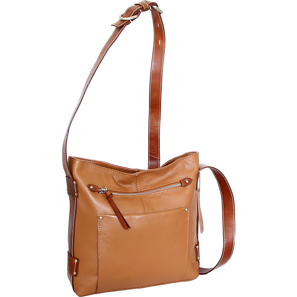 Nino Bossi Dagmar Crossbody Cognac - Nino Bossi Leather Handbags - Handbags, Leather Handbags
