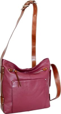 Nino Bossi Dagmar Crossbody Merlot - Nino Bossi Leather Handbags