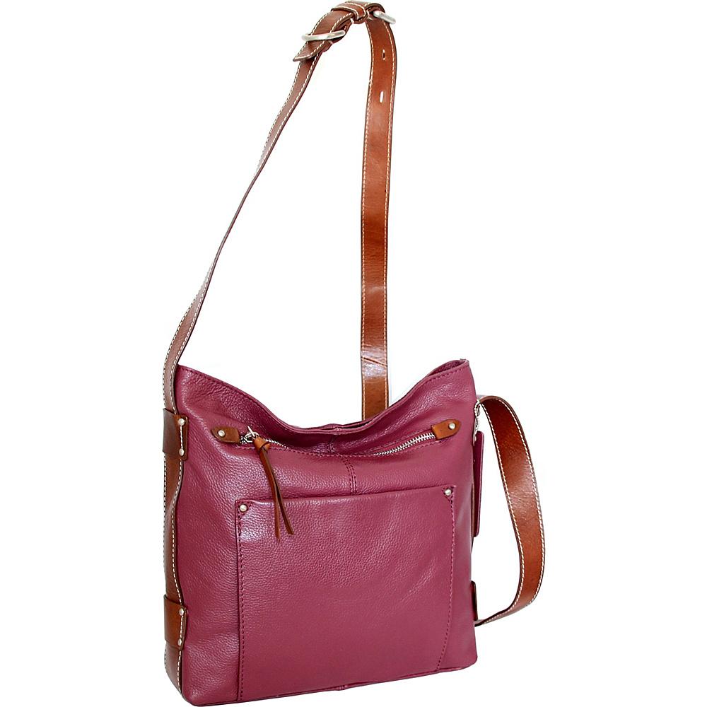 Nino Bossi Dagmar Crossbody Merlot - Nino Bossi Leather Handbags - Handbags, Leather Handbags