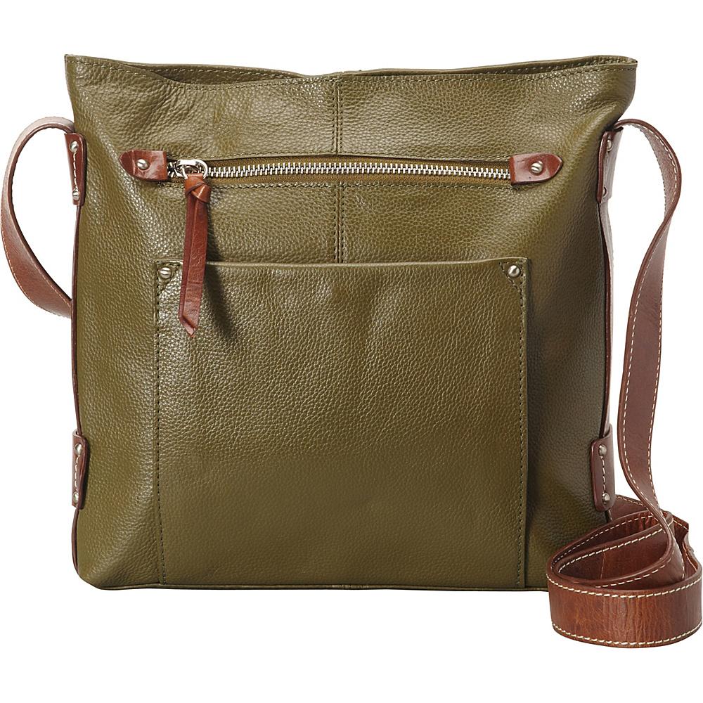 Nino Bossi Dagmar Crossbody Loden - Nino Bossi Leather Handbags - Handbags, Leather Handbags