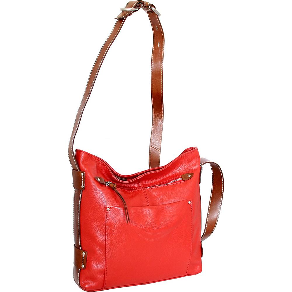 Nino Bossi Dagmar Crossbody Crimson - Nino Bossi Leather Handbags - Handbags, Leather Handbags