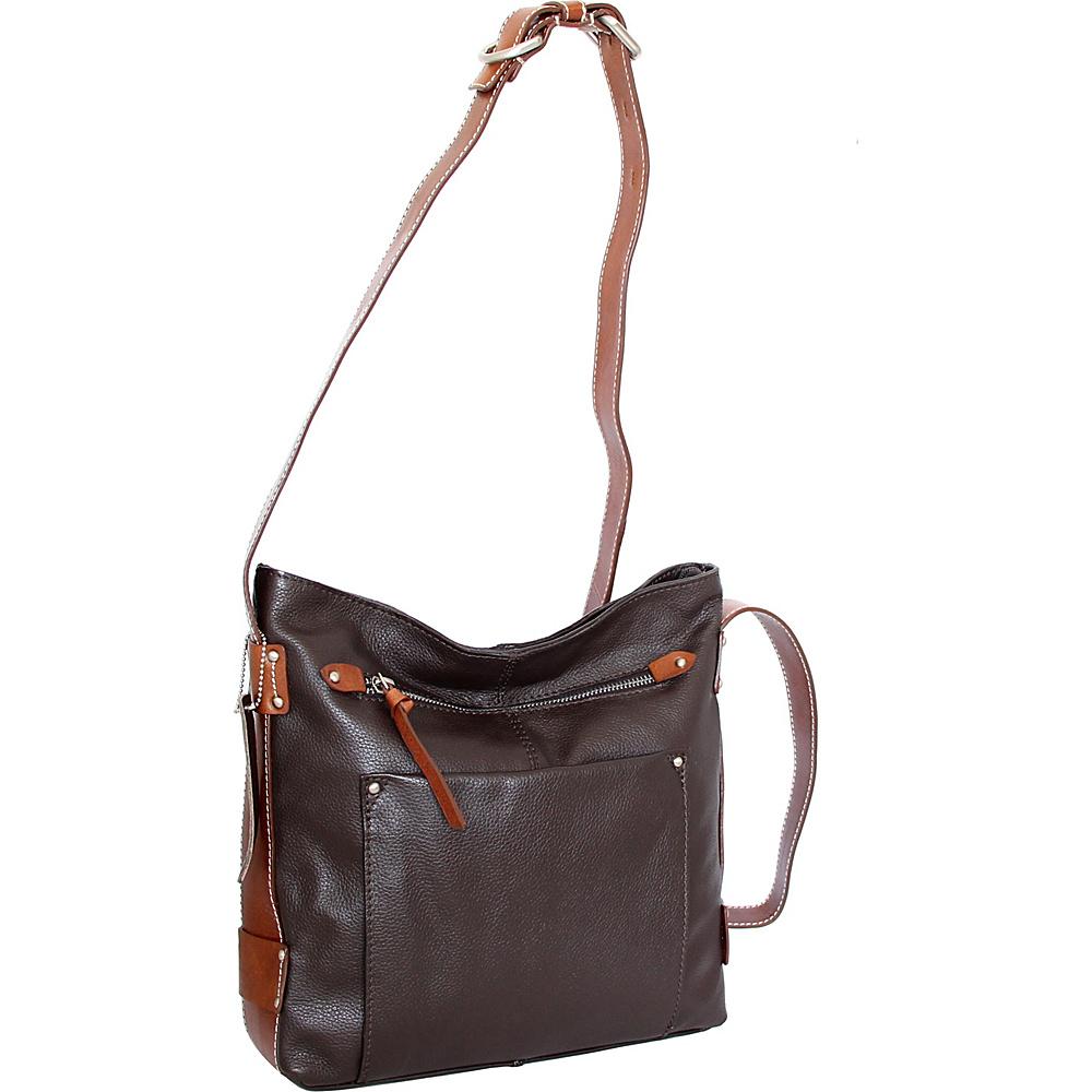 Nino Bossi Dagmar Crossbody Chocolate - Nino Bossi Leather Handbags - Handbags, Leather Handbags