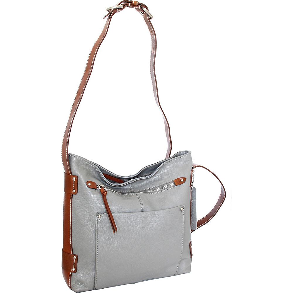 Nino Bossi Dagmar Crossbody Stone - Nino Bossi Leather Handbags - Handbags, Leather Handbags