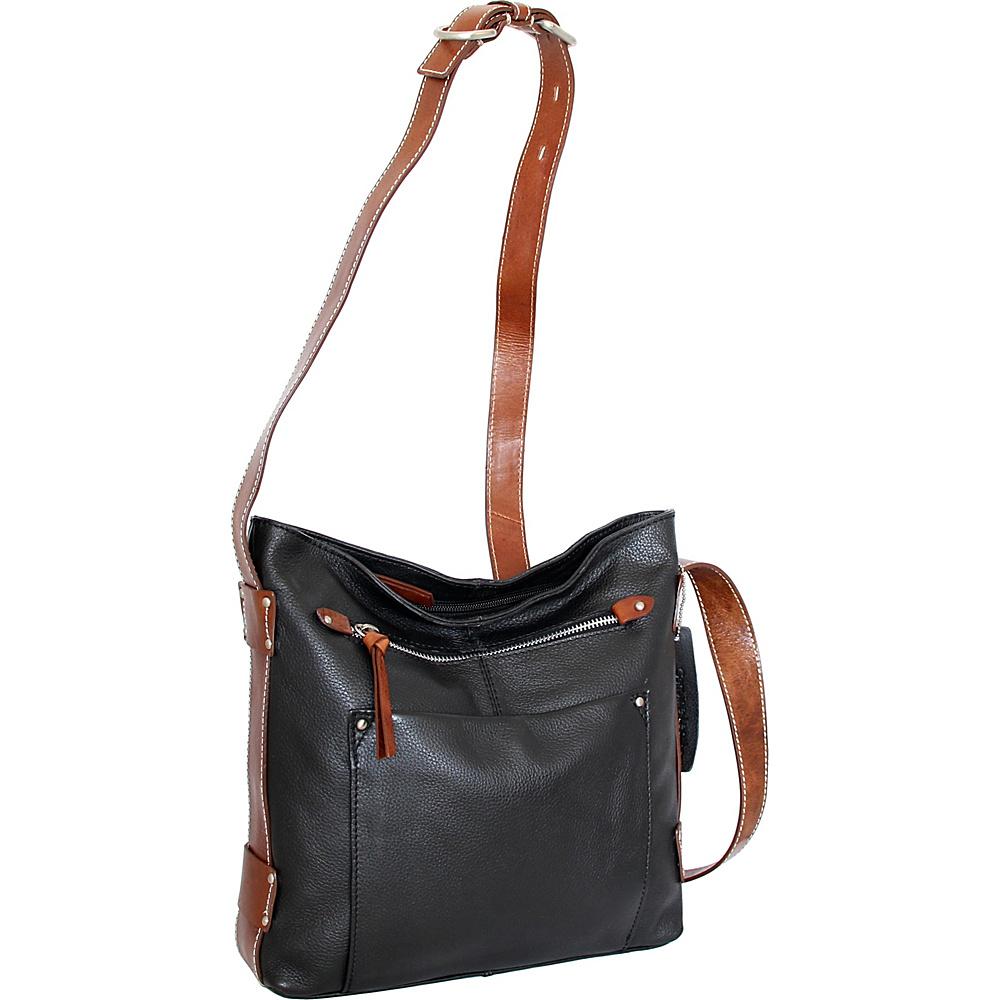 Nino Bossi Dagmar Crossbody Black - Nino Bossi Leather Handbags - Handbags, Leather Handbags