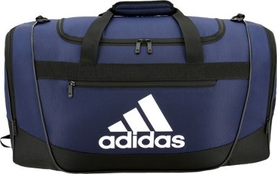 adidas Defender III Medium Duffel Collegiate Navy/Black/White - adidas Gym Duffels