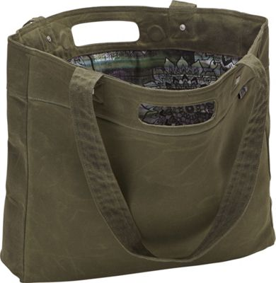 aTana Bags Tasana Tote Olive with Green Mandala - aTana Bags All-Purpose Totes