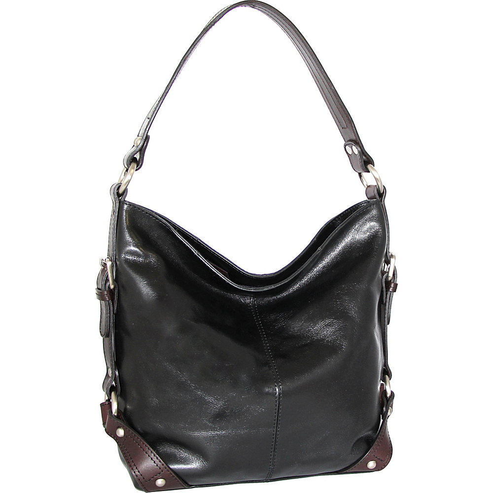 Nino Bossi Genna Shoulder Bag Black - Nino Bossi Leather Handbags - Handbags, Leather Handbags