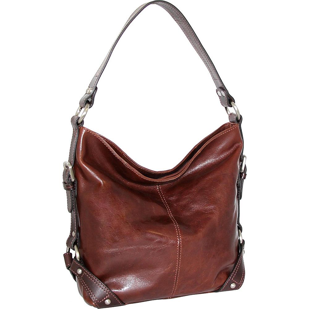 Nino Bossi Genna Shoulder Bag Walnut - Nino Bossi Leather Handbags - Handbags, Leather Handbags