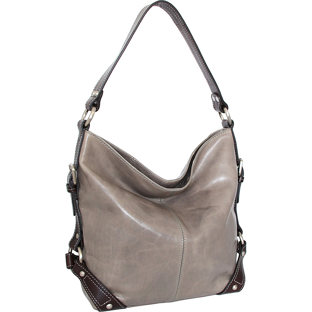 Nino Bossi Genna Shoulder Bag Stone - Nino Bossi Leather Handbags - Handbags, Leather Handbags