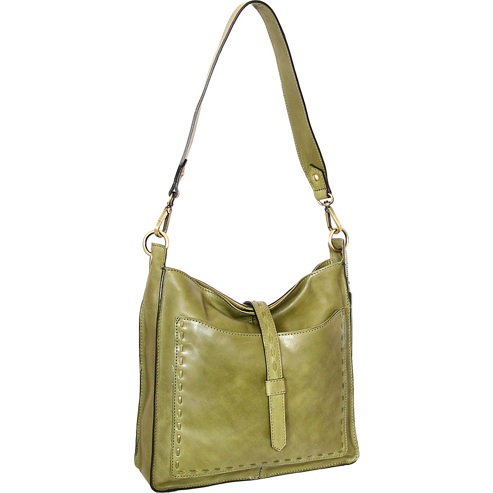 Nino Bossi Gilda Shoulder Bag Avocado - Nino Bossi Leather Handbags - Handbags, Leather Handbags