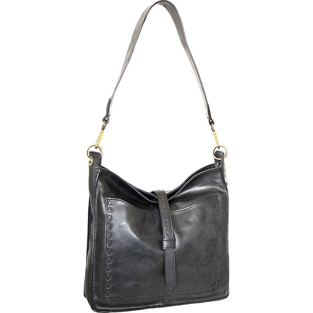 Nino Bossi Gilda Shoulder Bag Black - Nino Bossi Leather Handbags - Handbags, Leather Handbags
