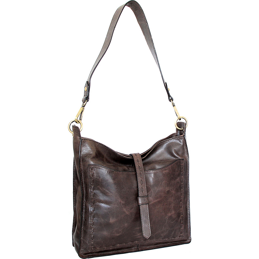 Nino Bossi Gilda Shoulder Bag Chocolate - Nino Bossi Leather Handbags - Handbags, Leather Handbags