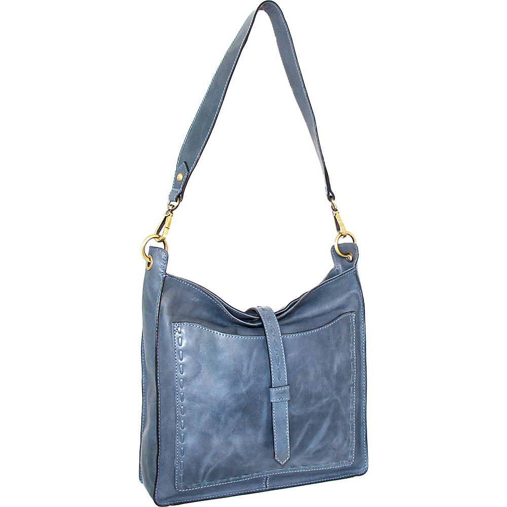 Nino Bossi Gilda Shoulder Bag Denim - Nino Bossi Leather Handbags - Handbags, Leather Handbags