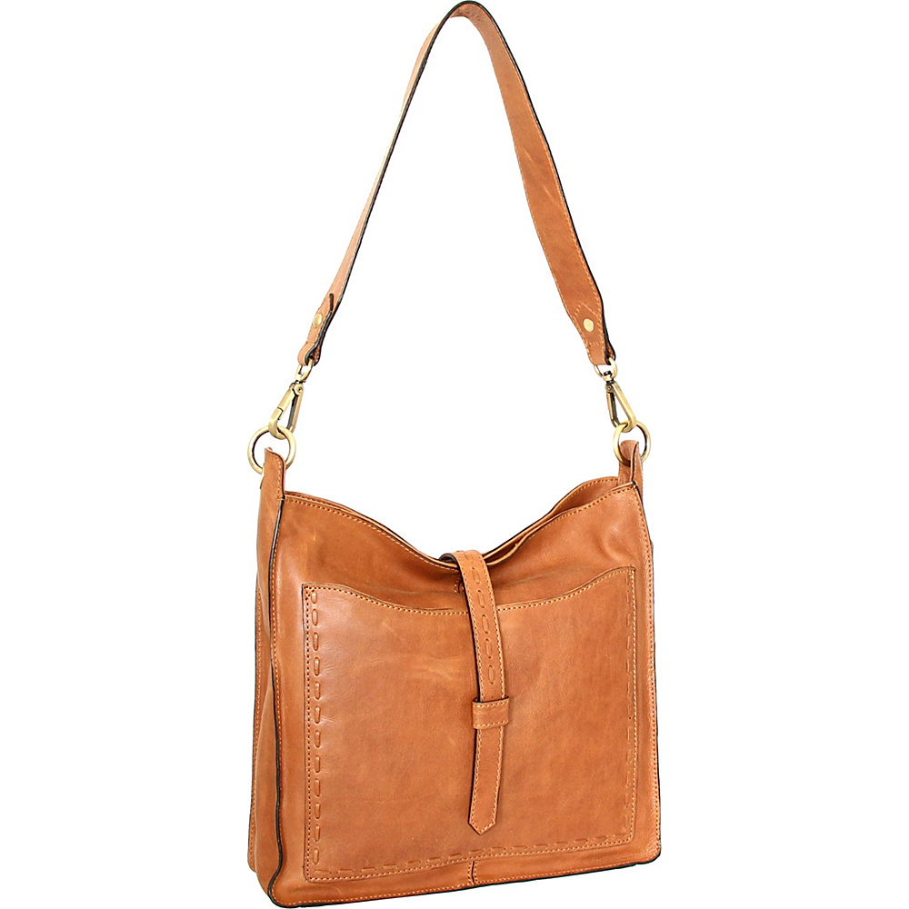 Nino Bossi Gilda Shoulder Bag Nut - Nino Bossi Leather Handbags - Handbags, Leather Handbags