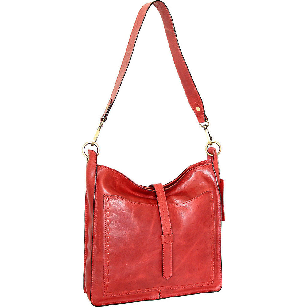 Nino Bossi Gilda Shoulder Bag Red - Nino Bossi Leather Handbags - Handbags, Leather Handbags