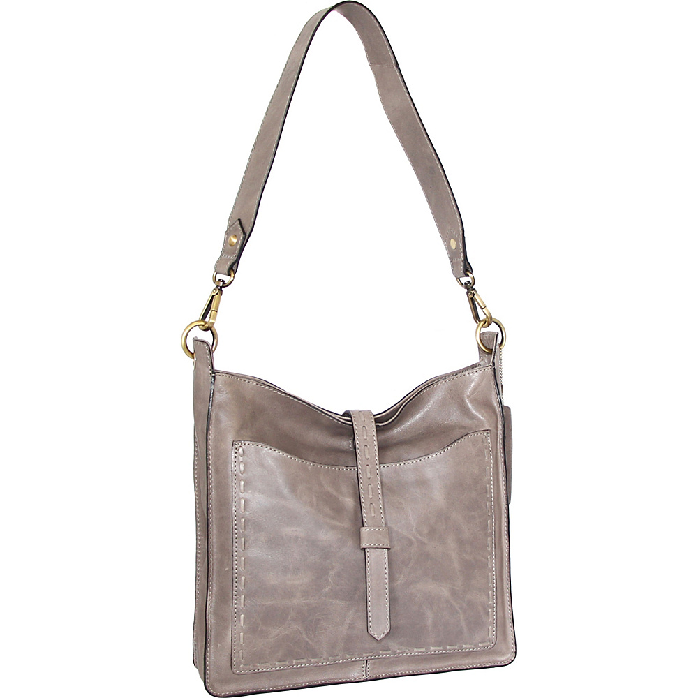 Nino Bossi Gilda Shoulder Bag Stone - Nino Bossi Leather Handbags - Handbags, Leather Handbags