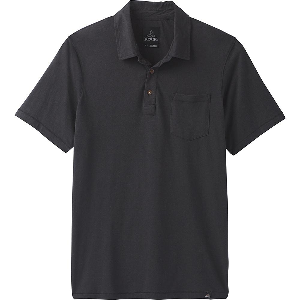 PrAna PrAna Polo M - Black - PrAna Mens Apparel - Apparel & Footwear, Men's Apparel