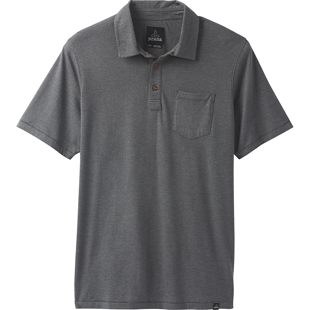 PrAna PrAna Polo S - Charcoal Heather - PrAna Mens Apparel - Apparel & Footwear, Men's Apparel