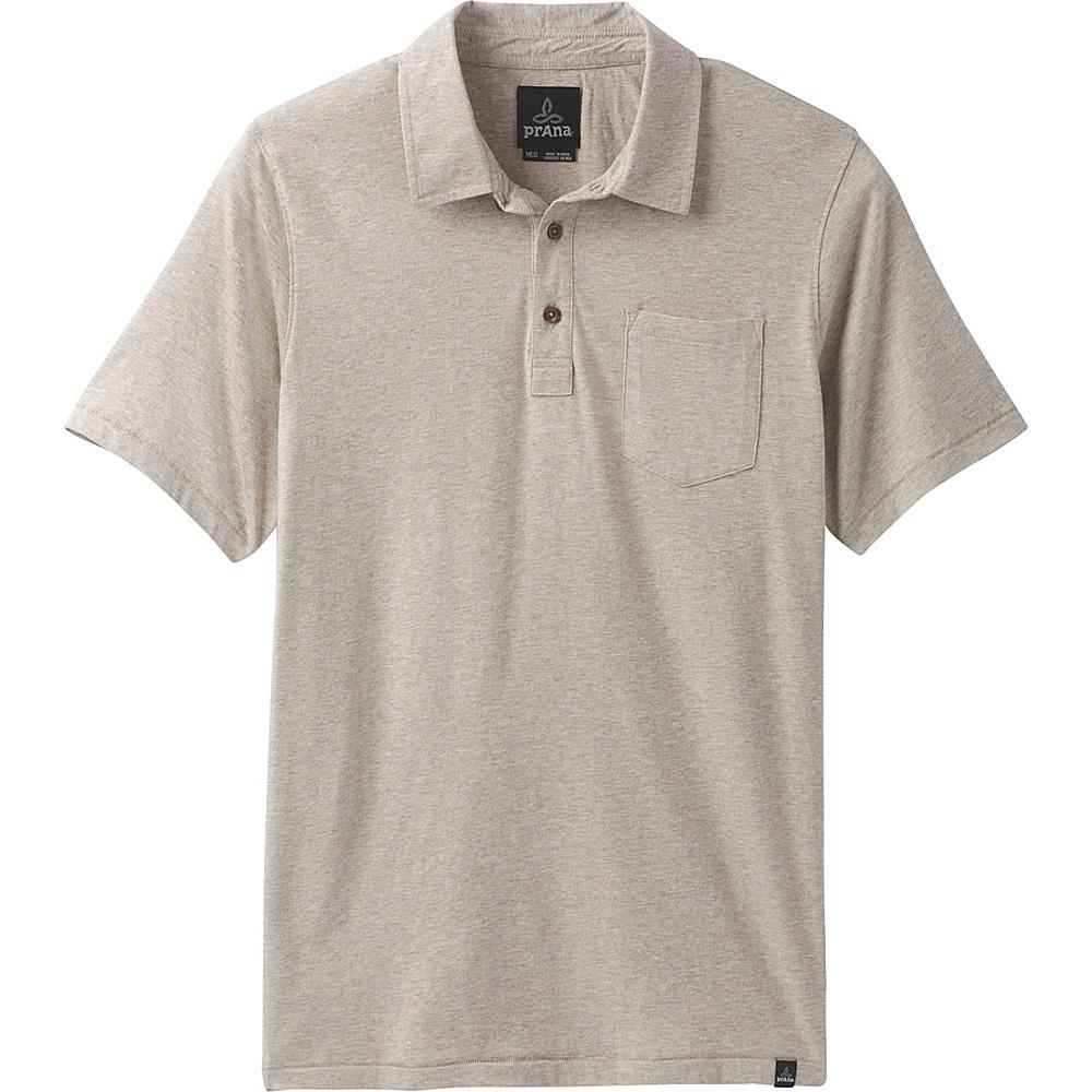 PrAna PrAna Polo XL - Dark Khaki Heather - PrAna Mens Apparel - Apparel & Footwear, Men's Apparel