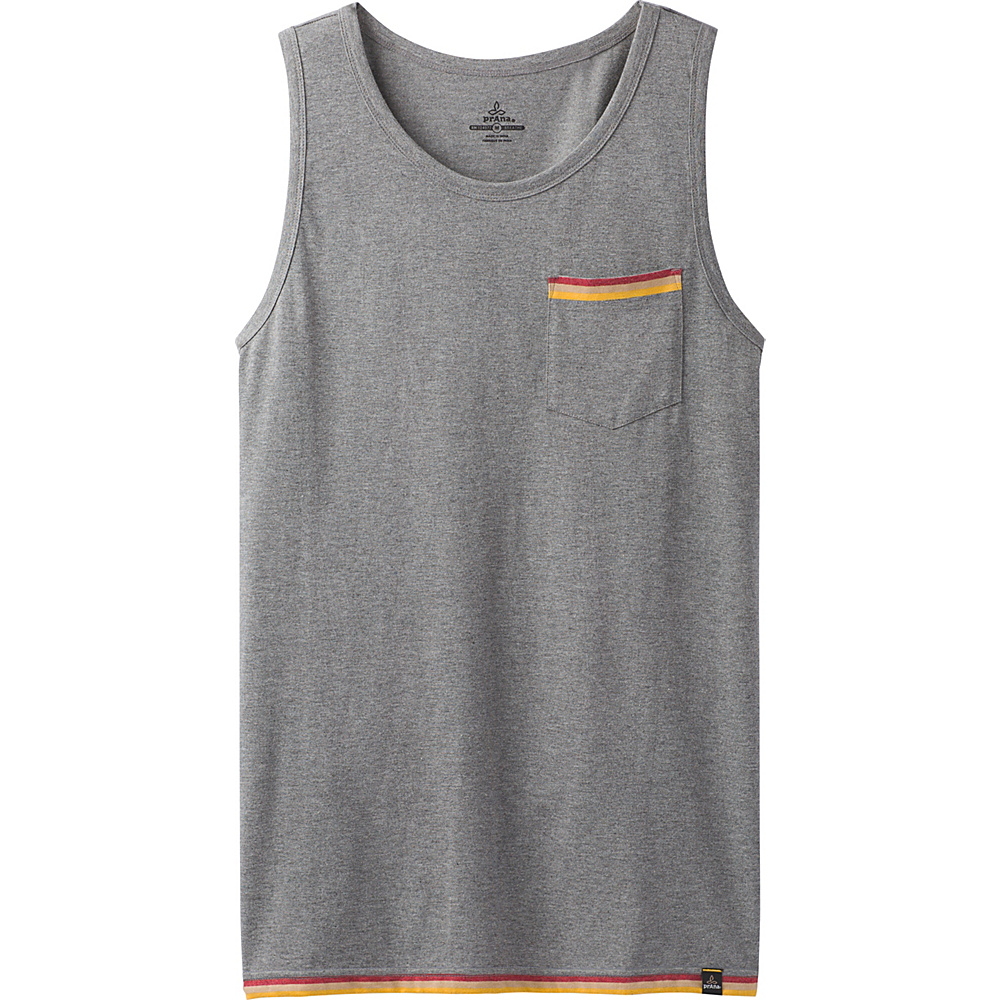 PrAna Garrity Tank L - Gravel Heather - PrAna Mens Apparel - Apparel & Footwear, Men's Apparel