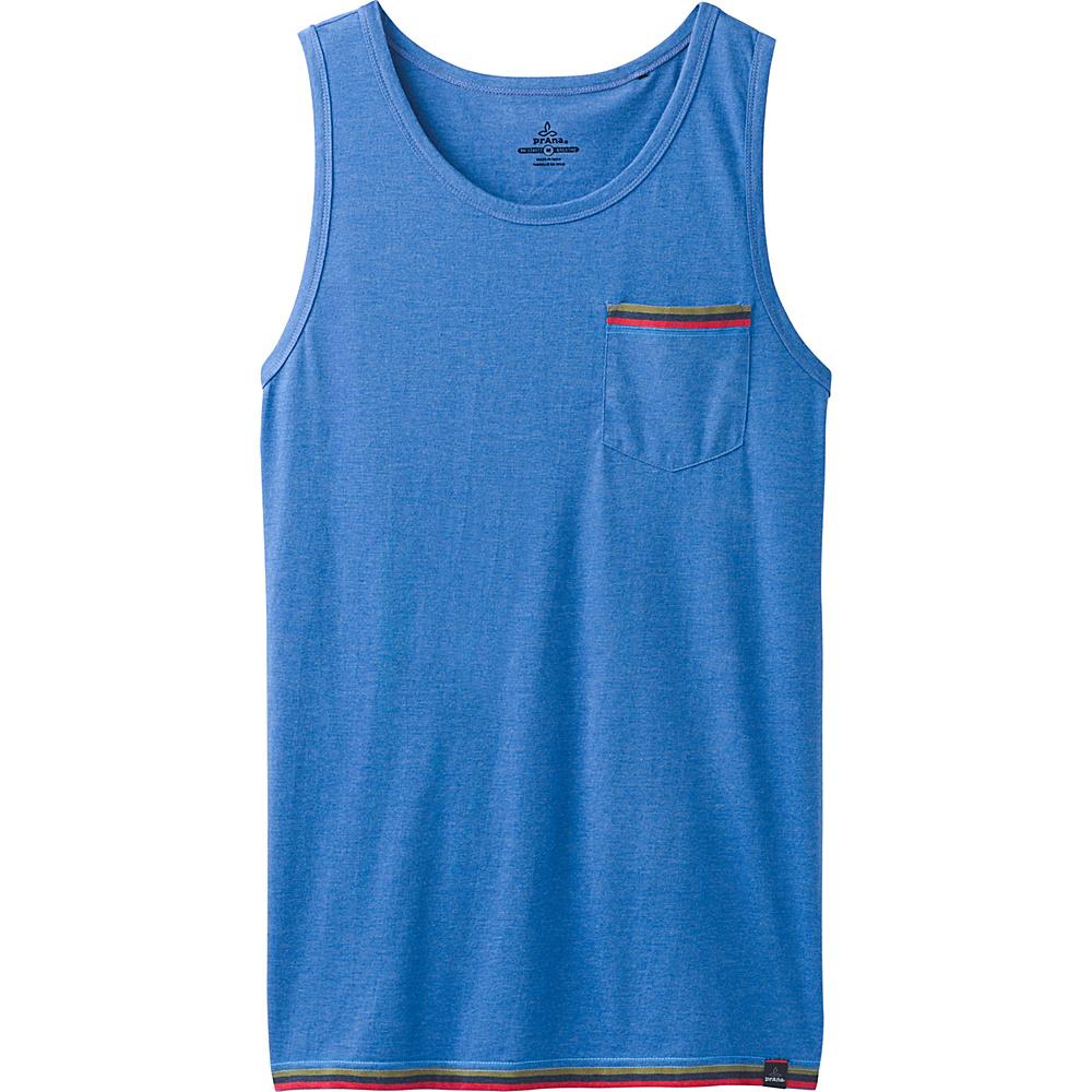 PrAna Garrity Tank XL - Island Blue Heather - PrAna Mens Apparel - Apparel & Footwear, Men's Apparel