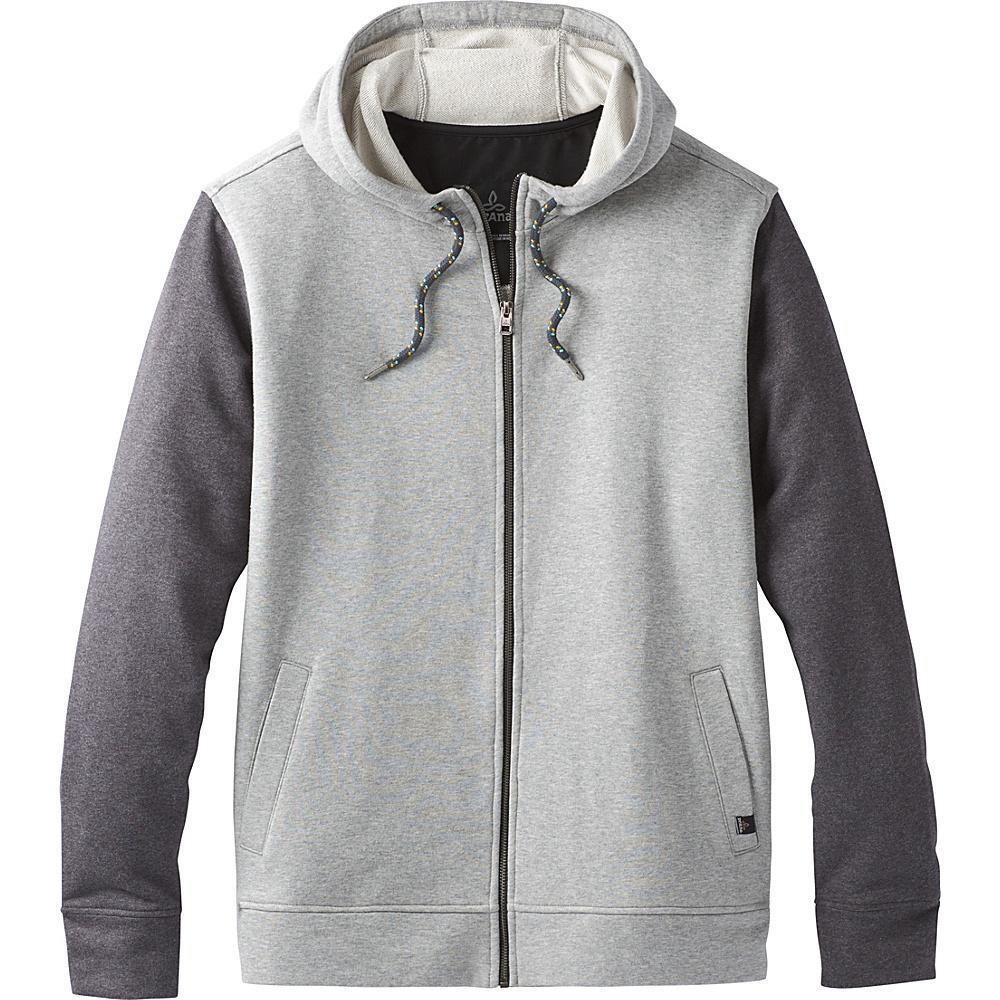PrAna Asbury Full Zip Hood M - Black Heather Colorblock - PrAna Mens Apparel - Apparel & Footwear, Men's Apparel