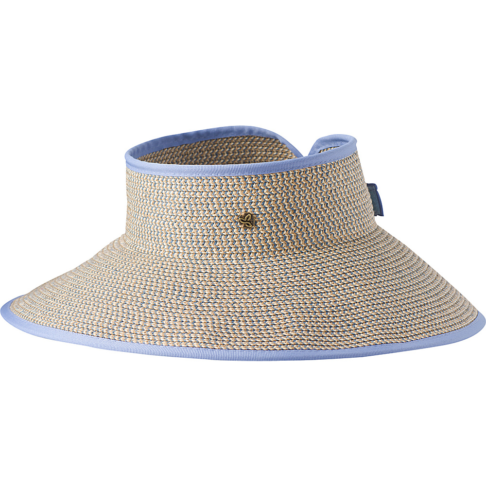 PrAna Denna Packable Visor One Size - Sunbleached Blue - PrAna Hats/Gloves/Scarves - Fashion Accessories, Hats/Gloves/Scarves