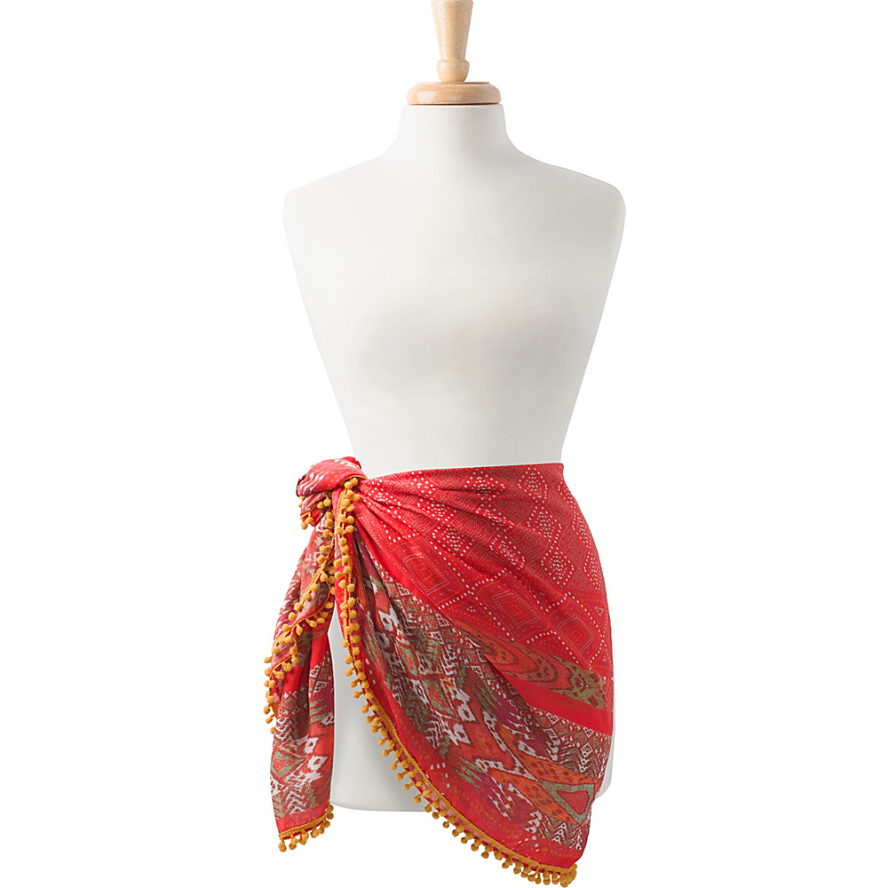 PrAna Stefany Sarong Carmine Pink Marrakesh - PrAna Hats/Gloves/Scarves - Fashion Accessories, Hats/Gloves/Scarves