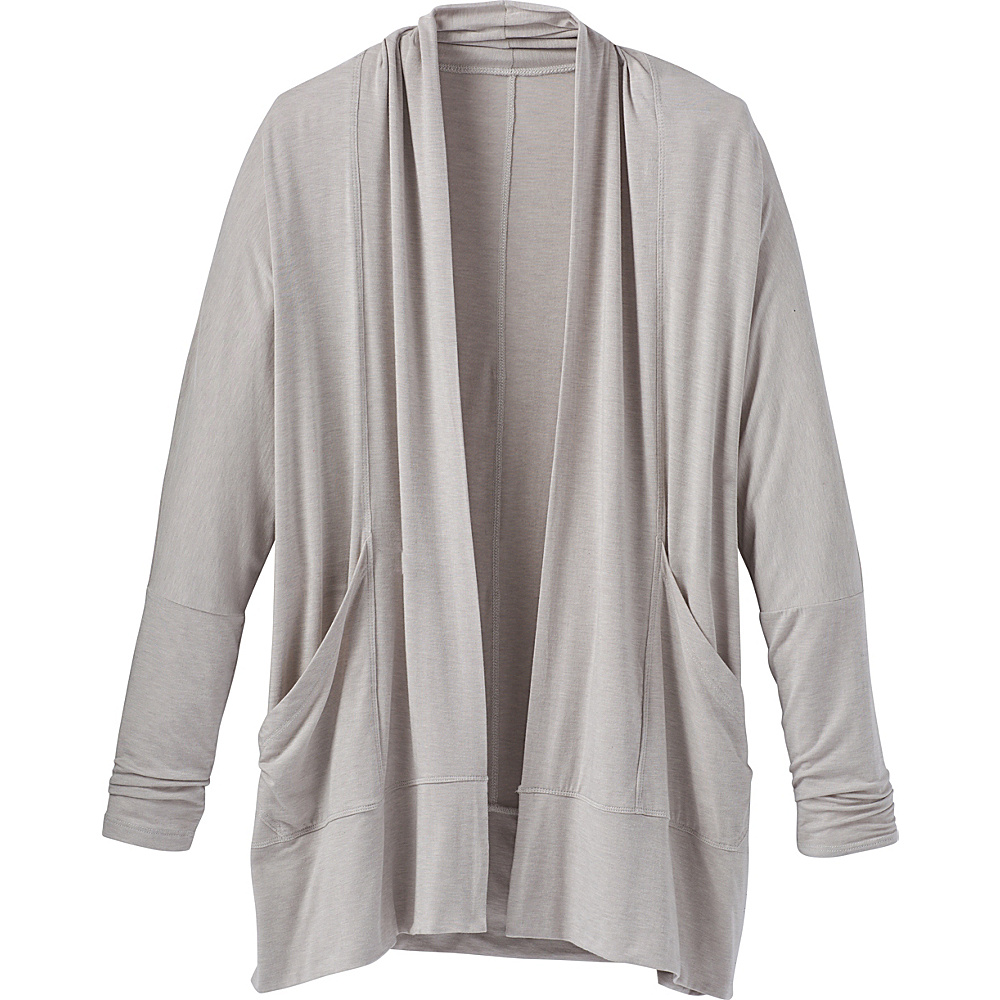 PrAna Foundation Wrap S - Light Grey Heather - PrAna Womens Apparel - Apparel & Footwear, Women's Apparel