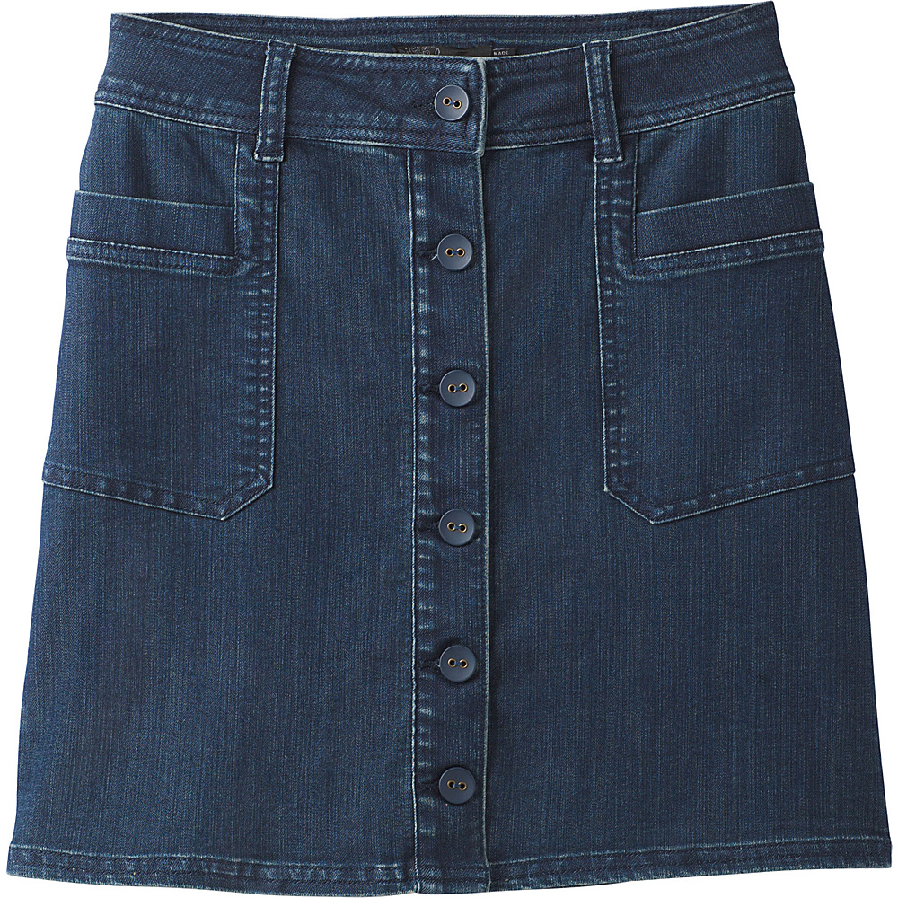 PrAna Kara Skirt 10 - Indigo - PrAna Womens Apparel - Apparel & Footwear, Women's Apparel