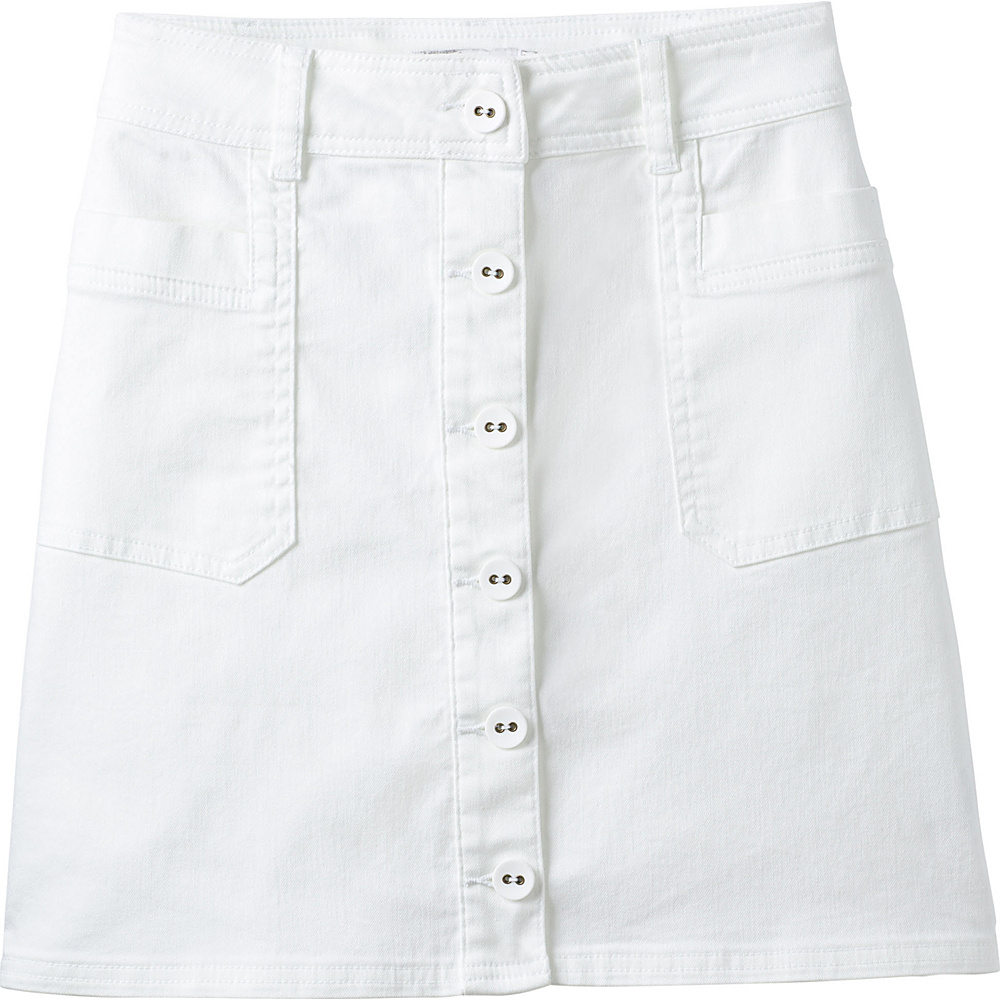 PrAna Kara Skirt 12 - White - PrAna Womens Apparel - Apparel & Footwear, Women's Apparel