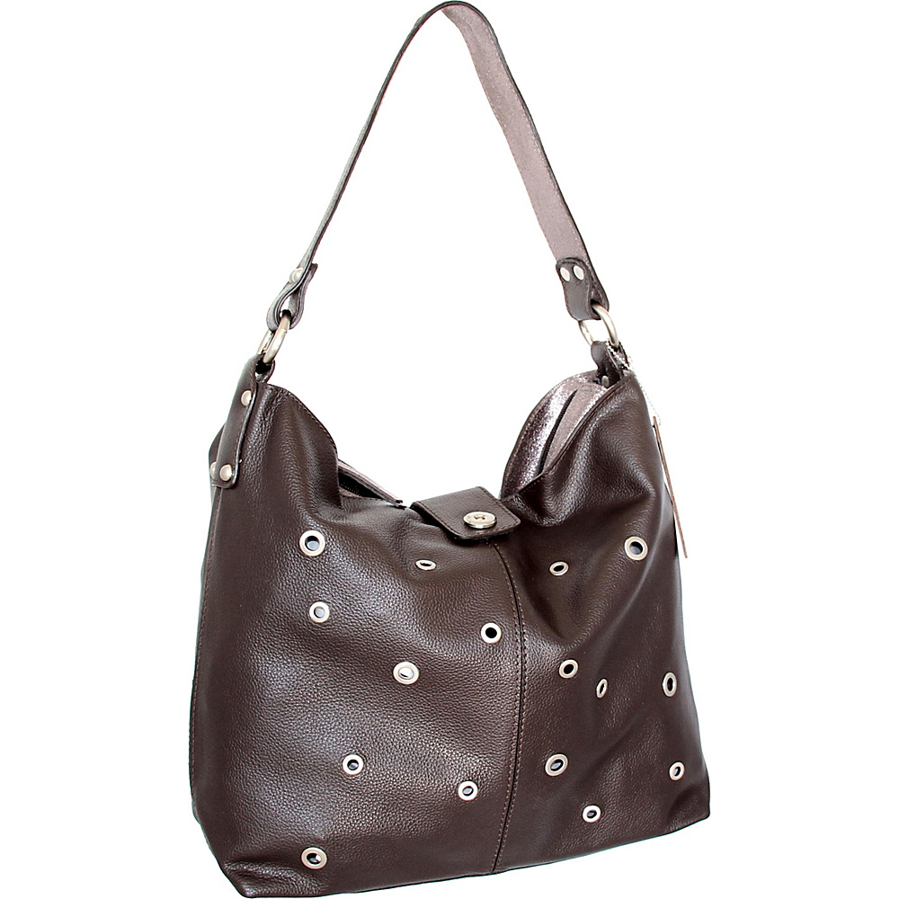 Nino Bossi Suzie Shoulder Bag Chocolate - Nino Bossi Leather Handbags - Handbags, Leather Handbags