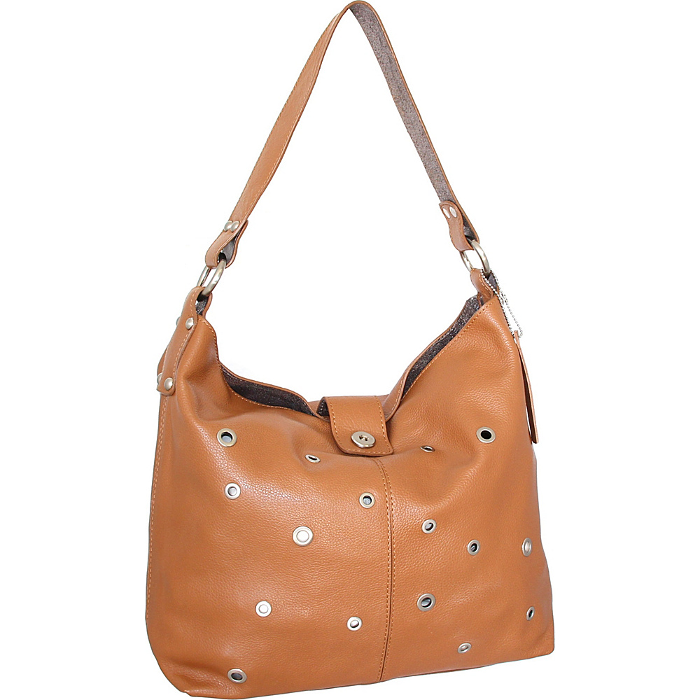 Nino Bossi Suzie Shoulder Bag Cognac - Nino Bossi Leather Handbags - Handbags, Leather Handbags