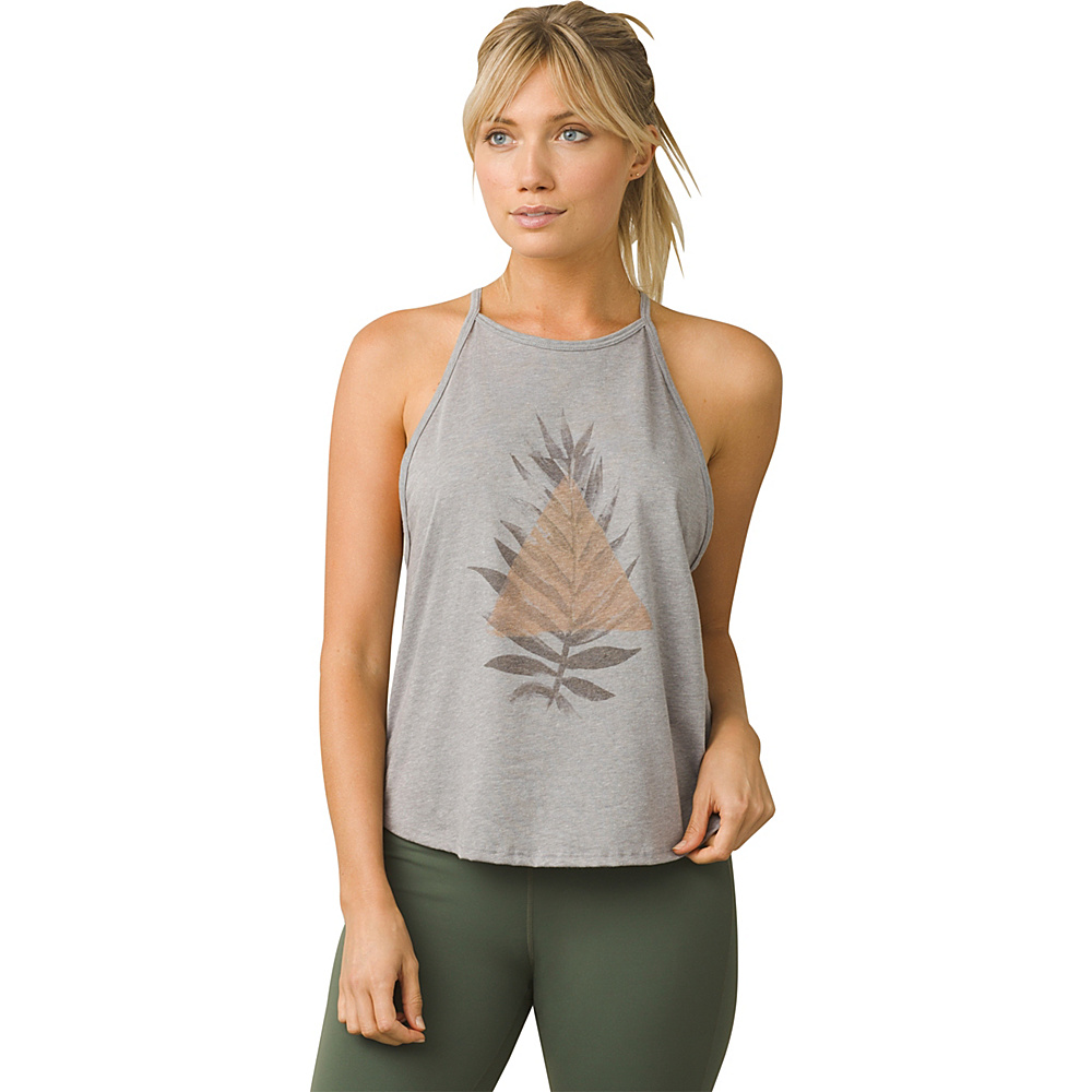PrAna Graphic You Tank S - Nature Up Heather Grey - PrAna Womens Apparel - Apparel & Footwear, Women's Apparel