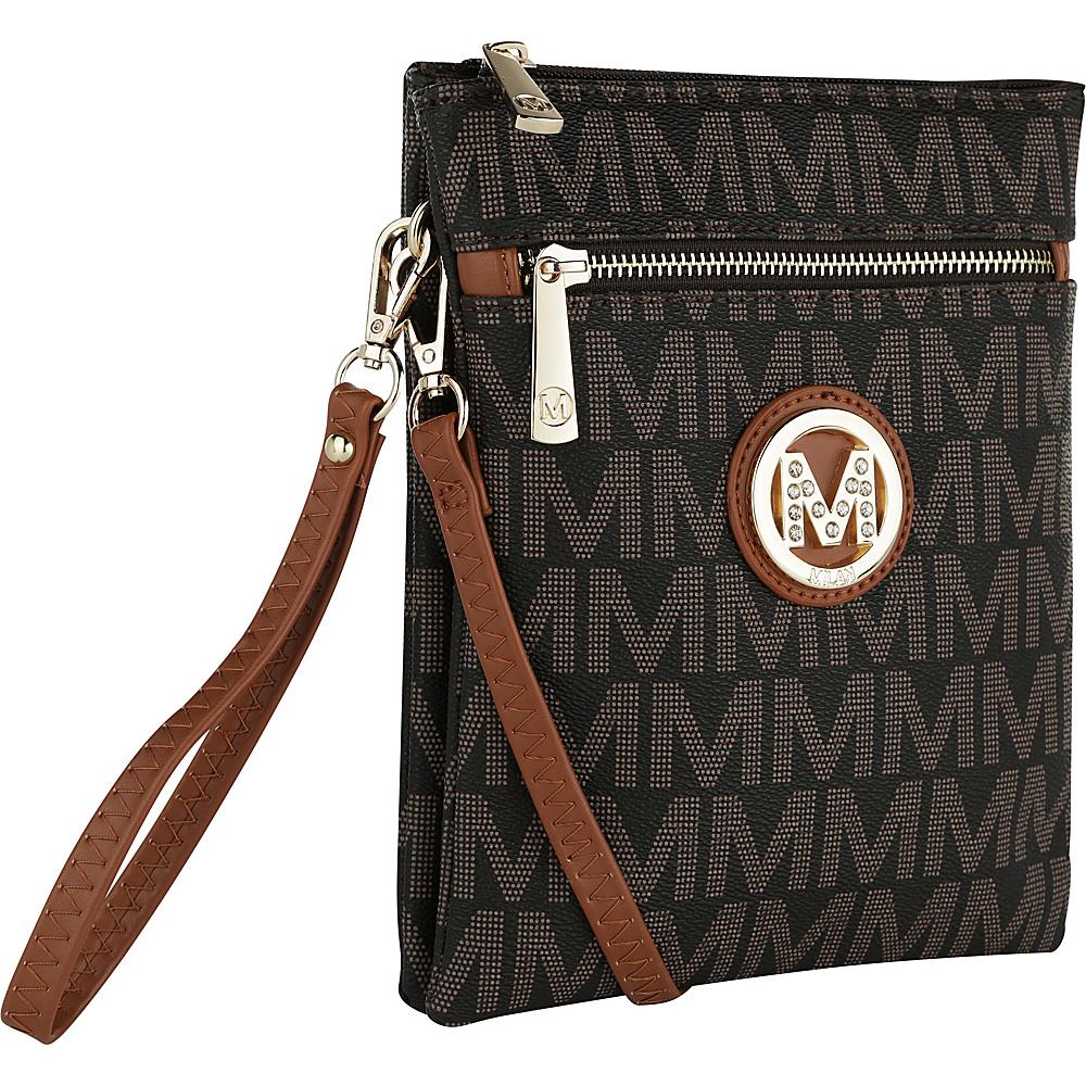 MKF Collection by Mia K. Farrow Fulton M Signature Crossbody Brown - MKF Collection by Mia K. Farrow Fabric Handbags - Handbags, Fabric Handbags