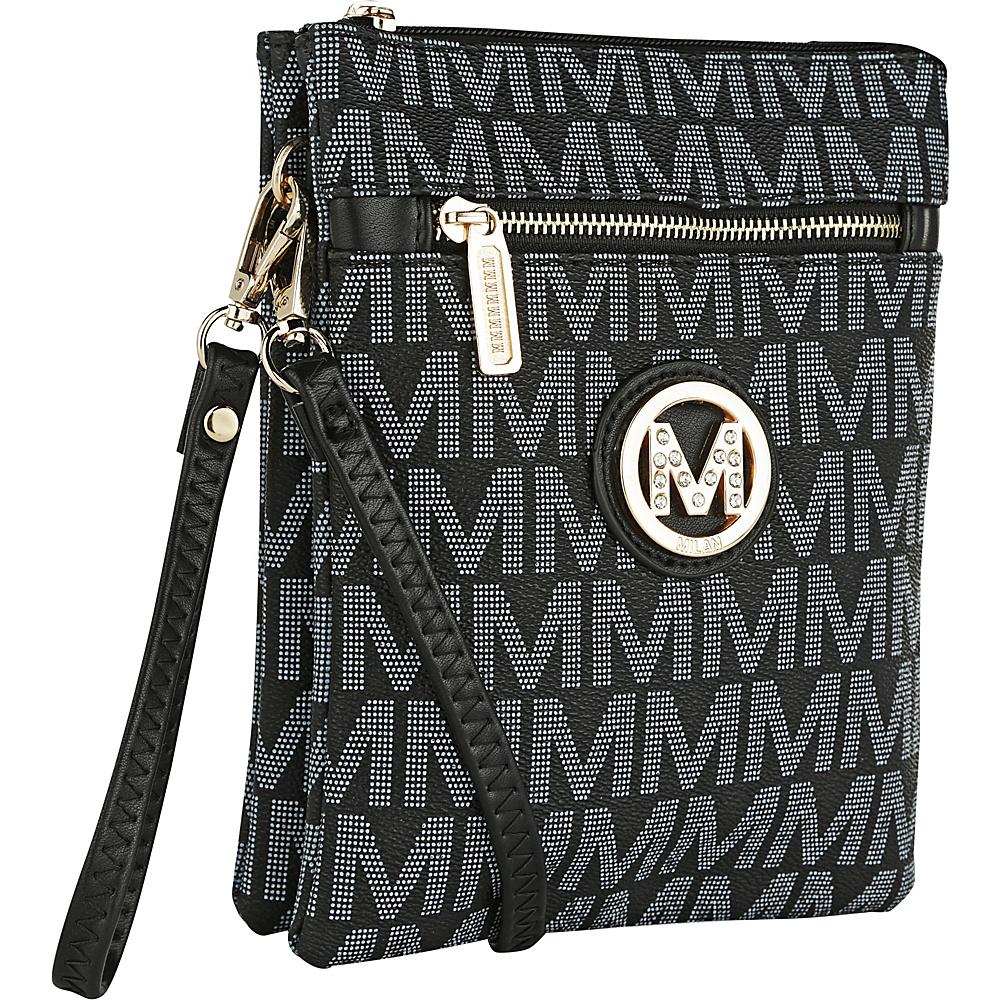 MKF Collection by Mia K. Farrow Fulton M Signature Crossbody Black - MKF Collection by Mia K. Farrow Fabric Handbags - Handbags, Fabric Handbags