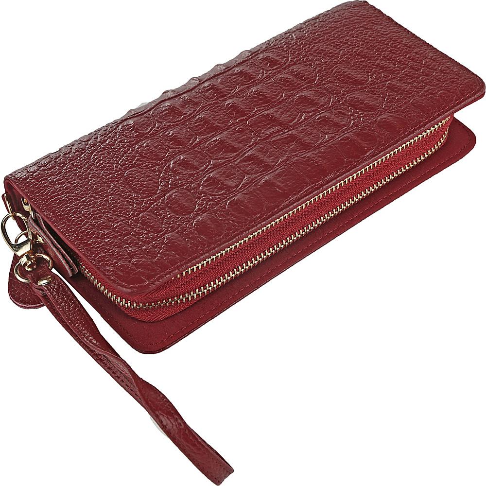 MKF Collection by Mia K. Farrow Eve Wristlet Wallet Dark Red - MKF Collection by Mia K. Farrow Womens Wallets - Women's SLG, Women's Wallets
