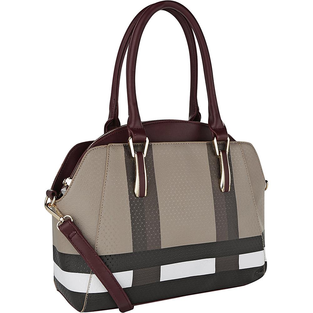 MKF Collection by Mia K. Farrow Demi Tote Burgundy - MKF Collection by Mia K. Farrow Manmade Handbags - Handbags, Manmade Handbags