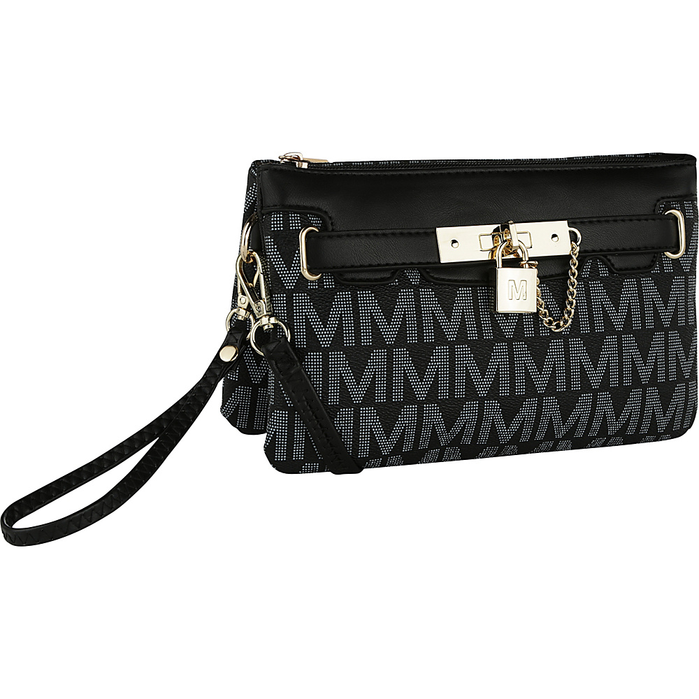 MKF Collection by Mia K. Farrow Carissa M Signature Crossbody Wristlet Black - MKF Collection by Mia K. Farrow Manmade Handbags - Handbags, Manmade Handbags