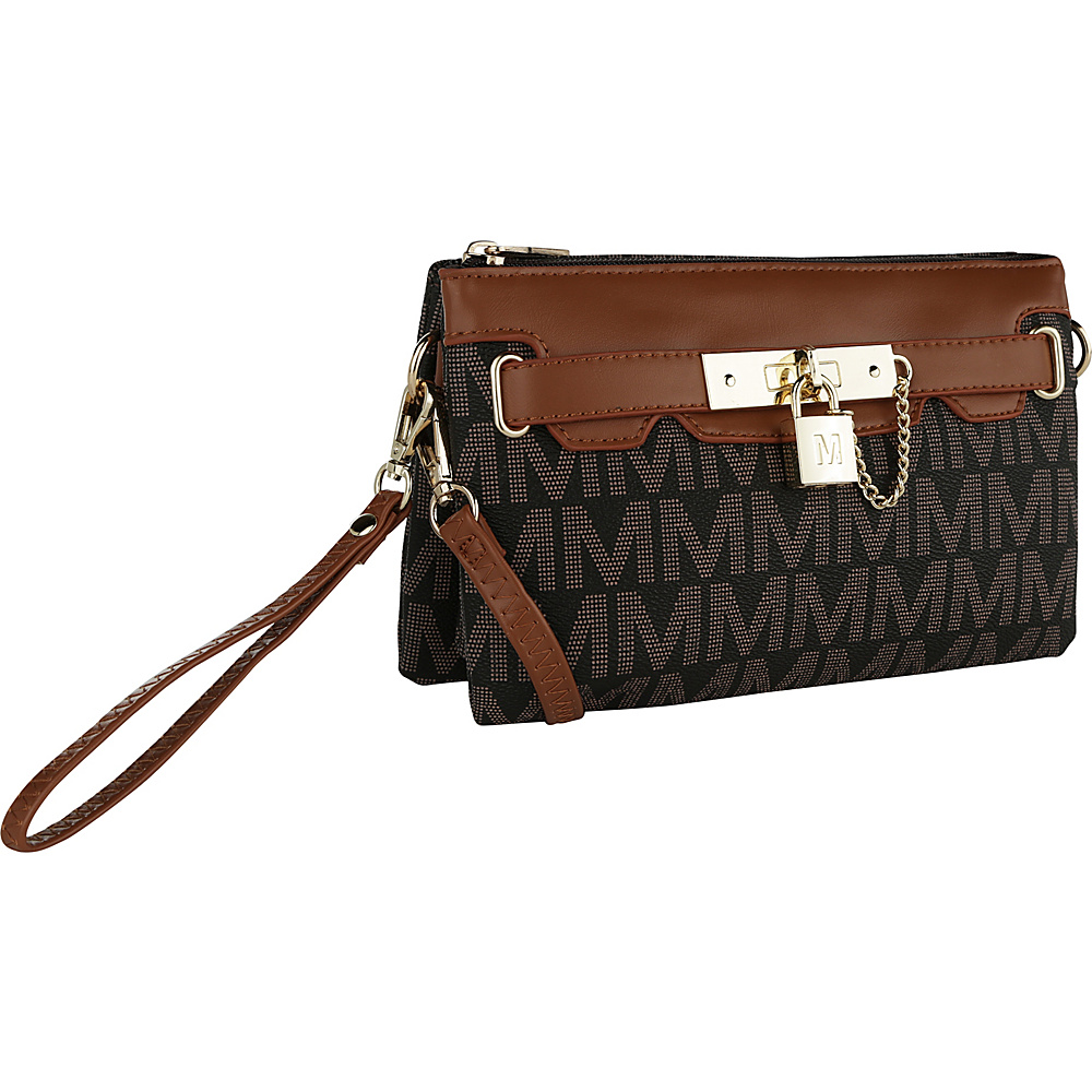 MKF Collection by Mia K. Farrow Carissa M Signature Crossbody Wristlet Brown - MKF Collection by Mia K. Farrow Manmade Handbags - Handbags, Manmade Handbags