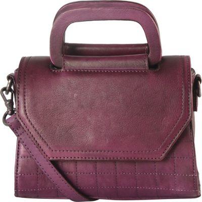 Diophy Quilted Medium Shoulder Bag Purple - Diophy Leather Handbags