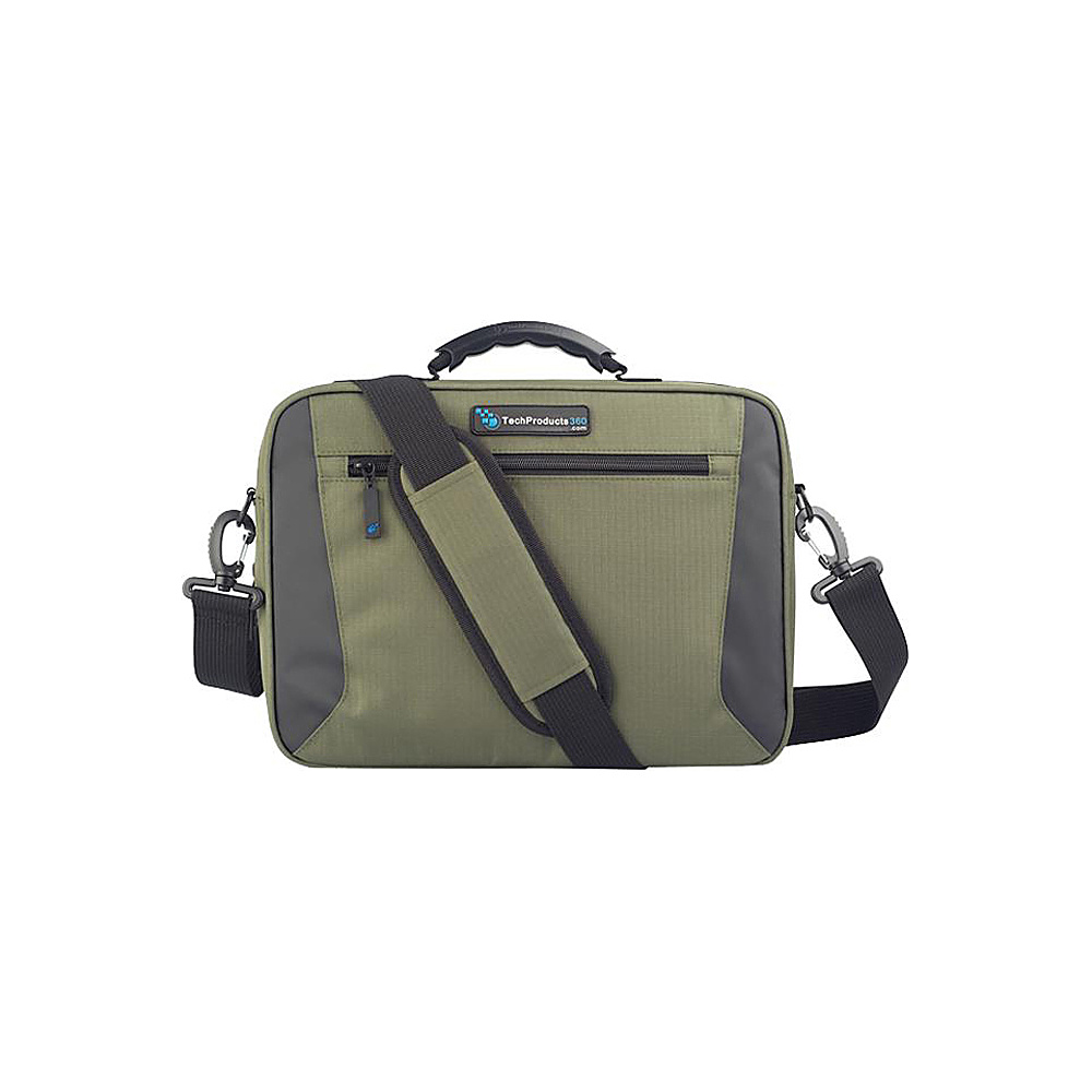 "Techproducts 360 Alpha 11"" Case Green Techproducts 360 Messenger Bags"